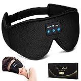 LC-dolida Auriculares para dormir con Bluetooth, antifaz para dormir, con bloqueo de luz, con auriculares inalámbricos 5.0, suave y cómodo para siestas, dormir, yoga y viajes, lavable