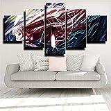 Impresiones sobre Lienzo Zanahoria De Una Pieza 5 Cuadros En Lienzo Modernos Salón Decoracion Murales Pared Lona XXL Grande Hogar Dormitorios Arte Pared HD Impresión Foto