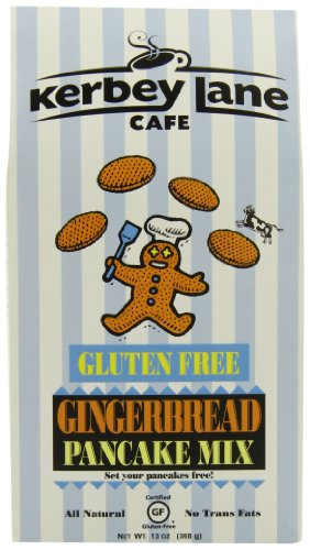 Kerbey Lane Cafe Gluten Free Pancake Mix, Gingerbread, 13-Ounce
