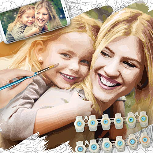 Schipper 602160808 U Can Paint by Numbers for Adults and Kids | Create an Amazing Personalised Portrait from an Image or Photo, Colour