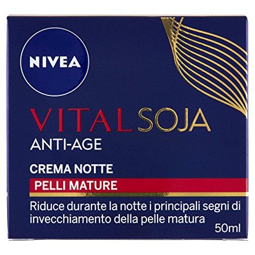 Nivea - Vital Soja Anti-Age, Crema Notte, Pelli Mature - 50 Ml