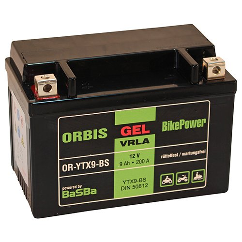 Preisvergleich Produktbild Orbis GEL12-9-BS Motorradbatterie - YTX9-BS 12 Volt 9 Ah 200 A