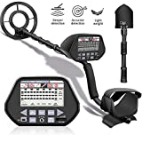 Aneken Metal Detector, 3 Modes High Accuracy Metal Detectors with10inch Waterproof Coil, Larger LCD Display, 3 Audio Tone, Adjustable Size(48'' max) Metal Finder for Adults and Kids(with Shovel)