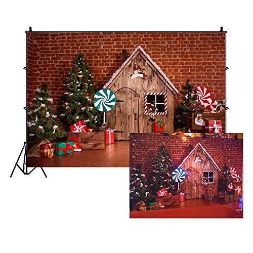 Cassisy 3x2m Vinilo Navidad Telon de Fondo Telón de Fondo de la Fiesta de Navidad Fondo de Pueblo de Navidad Fondos para Fotografia Party Infantil Photo Studio Props Photo Booth