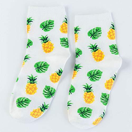 WLQXDD Spezielle Geschenksocken Avocado Tannenzapfen Kirsche Pflanze Obst Lebensmittel Socken Kurze Lustige Baumwolle Socken Frauen Frühling Männer Unisex Glücklich Socken Weiblich