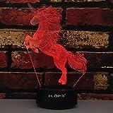 ZXYSHOP Unicorn 3D Lampe, 3D Nachtlicht für Kinder - Fernbedienung