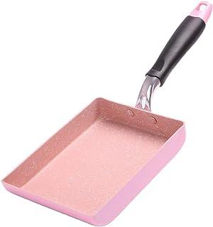 Serenable Aluminum Non-Stick Kitchen Fry Pan Tamagoyaki Cookware Rectangular - Pink
