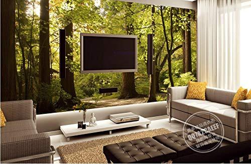 Fotomural 3D papel pintado fotográfico Forest Park paisaje papel pintado fotográfico para salón papel pintado de pared papel pintado, 150 cm x 105 cm