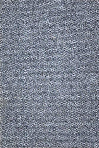 Cristina Carpets - Felpudo ZERMAT de coco sintético de color gris, fondo de goma rectangular, varios tamaños para exterior (38 x 60 cm) ⭐