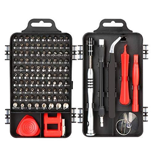 Napacoh 110 in 1 Precise Screwdriver Set Cell Phone Watch Laptop PC Magnetic Repair Kit, DIY Repair Tools Kit with Case Black