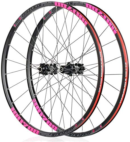 Ruedas De Bicicleta,llantas bicicleta Montaña delantera de la bici de la rueda de la rueda trasera, 26 '/27.5' bicicletas de ruedas de aleación Tipo de disco de frenos BTT llanta de liberación rápida