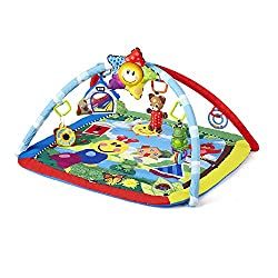 Playtime pals cheer on your baby's multi-sensory exploration 8 classical melodies with 20 minutes of playtime Toys entertain while lying, sitting up or tummy time and large baby-safe mirror Mat is machine washable Detachable star features mesmerising...