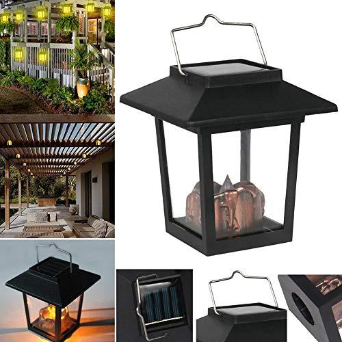 Wodeni Solar Power Hanging Wind Lamp Vintage Lantern Palace Light Decoration for Garden