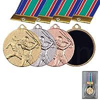 [レーザー彫刻名入れ] GOLD SHACHI 表彰メダル M(直径35mm) 【M-305 ソフトボール(女) 金】
