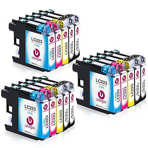 Uoopo Ersatz für Brother LC223 Druckerpatronen für Brother MFC-J5320DW MFC-J4420DW MFC-J4620DW MFC-J4625DW MFC-J480DW MFC-J5620DW MFC-J5720DW MFC-J680DW MFC-J880DW (6 Schwarz, 3 Blau, 3 Rot, 3 Gelb)