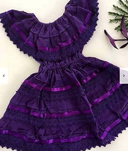 Campesino purple dress for 9-10 years old girl