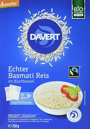 Davert Bio Basmati Reis im Kochbeutel, 2 Beutel, 250g