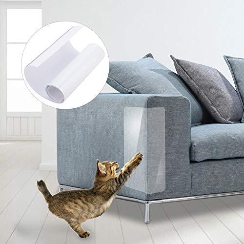 Wifehelper 2 Stücke Sofa Schutz Katze Anti-Scratch Aufkleber Schutz Möbel Kratzschutz Matte Stop Kratzen Katzen Möbel Defender(L)