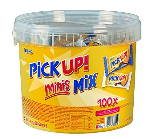 PiCK UP! minis Mix - Mini-Keksriegel - Vorratsbox mit 100 einzeln verpackten Riegeln in Choco und Choco & Milk (1060 g)