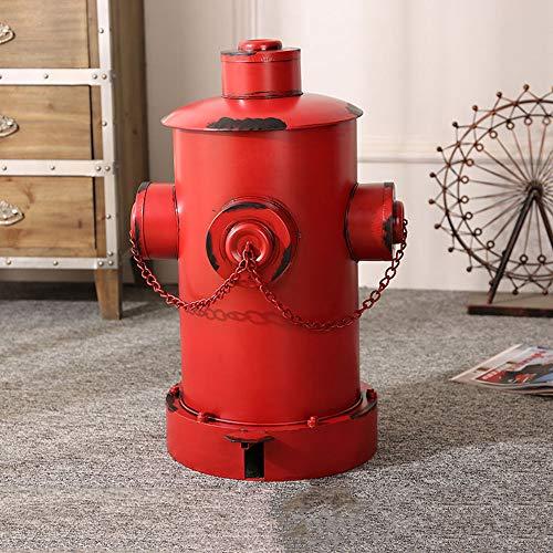 Poubelle Style Industriel rétro, de Bouche d'incendie en Fer, Salon créatif Maison Bar Cuisine Salle de Bain avec Ornements de Couvercle