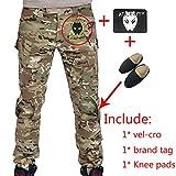WorldShopping4U Hommes Paramilitaire Combat Pantalons Pantalon avec genouillères...