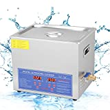 Ultrasonic Cleaner 10L Digital Cleaning Machine with Stainless Steel Cleaning Basket Ultrasonic Cleaner Bath Tank Timer Heated Machine for Metal Parts Engine Parts Tableware Daily Lab Tools Etc