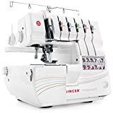 SINGER | Professional 5 14T968DC Serger with 2-3-4-5 Threaded Capability, Including Cover Stitch, Auto Tension, and Bonus Presser Feet