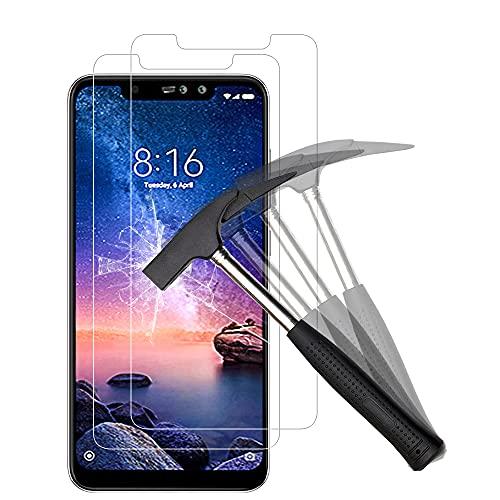 ANEWSIR Verre trempé Compatible avec Xiaomi Redmi Note 6 Pro, Protection écran Film Protection en écran 9H, Ultra Clair, Installation Facile, sans Bulles, Anti Rayures - 2 pièces