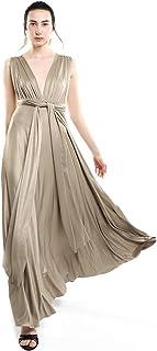 LOB Vestido Maxi Dorado Vestido para Mujer