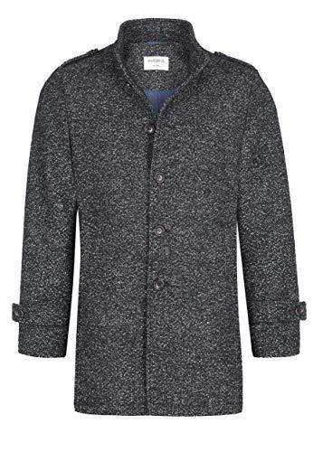 White Bros heren mantel wollen mantel wintermantel Eindhoven grijs antraciet slim fit hoogwaardige wolmix