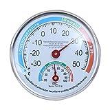 yummyfood Précision Thermomètre Hygromètre, Thermomètre Analogique Extérieur Intérieur, pour Jardin De Cour/Pépinière De Serre/Incubateur De Reptiles/Chambre De Bébé/Sauna