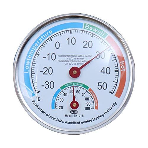 Exuberanter Thermo-Hygrometer Innen Außen, Hohe Präzision Monitor Temperatur Und Luftfeuchtigkeit, Babyzimmer Sauna Gewächshausgemüse Wandmontage Mit Halterung Luftfeuchtigkeitsmesser