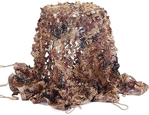 BRFDC Malla de Camuflaje Vela de Sombra Shade Net Camo Nets Outdoor Sunscreen Redes para Acampar el Aislamiento del Techo del jardín 619 (Color : Desert, Talla : 10x15m)