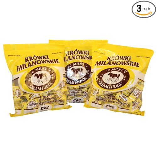 Krowki Milanowskie Milky Cream Fudge 300g (Pack of 3)