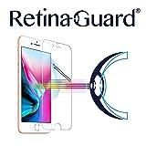 iPhone 8用RetinaGuardアンチブルーライト強化ガラススクリーンプロテクター - Sgs&Intertekテスト済み - 過度の有害なブルーライトをブロックし、目の疲れや目の疲れを軽減(透明)