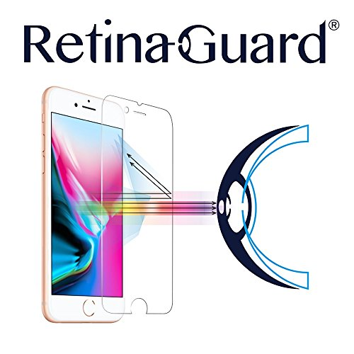 RetinaGuard Anti Blue Light Tempered Glass Screen Protector for iPhone 8...