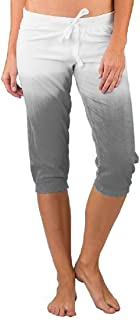 Jmwss QD Women's Casual Drawstring Gradient Cropped Pants Capri Joggers