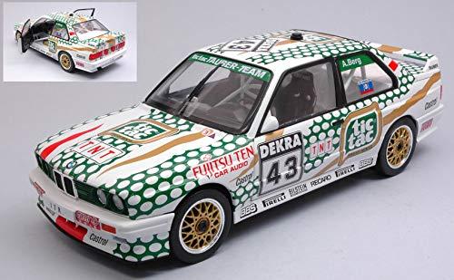 per BMW E30 M3 TIC TAC N.43 DTM 1991 A.BERG 1:18 - Solido - Auto Competizione - Die Cast - Modellino