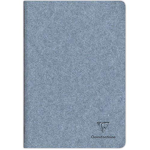 Clairefontaine 83515C - Un Cahier Piqué Cousu Fil couverture Papier Jeans - A4 21x29,7 cm 96 Pages Lignées papier Ivoire 90g - Avec Rabat - Collection Jeans&Cocoa