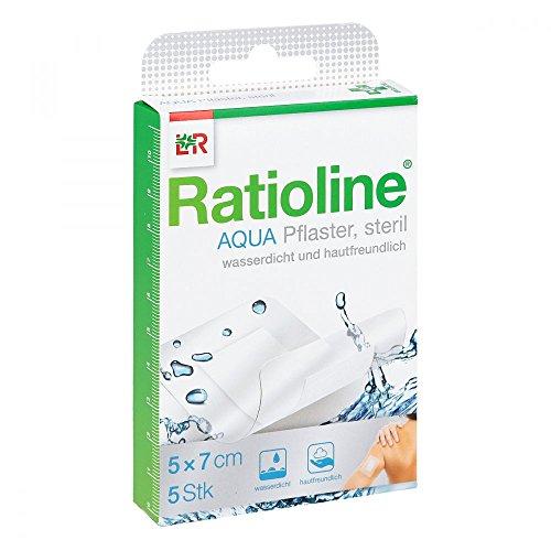 Ratioline Aqua Duschpflaster Plus 5x7 cm Steril, 5 St