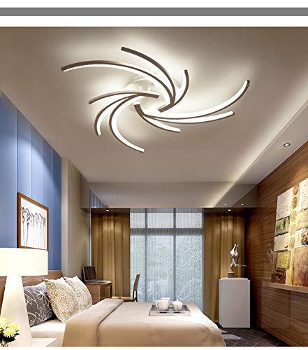 NEU 2042WJ-3 LED Deckenleuchte mit Fernbedienung Lichtfarbe/Helligkeit einstellbar Acryl-Schirm weiß lackierter Metallrahmen Modernes Design Energieeffizienzklasse: A+ Modern