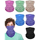 6 Pieces Summer Face Cover UV Protection Neck...