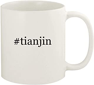#tianjin - 11oz Hashtag Ceramic White Coffee Mug Cup, White