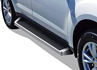 APS iBoard Running Boards 6 inches Custom Fit 2010-2017 Chevy Equinox & 2010-2017 GMC Terrain (Exclude Denali Models) (Nerf Bars Side Steps Side Bars)