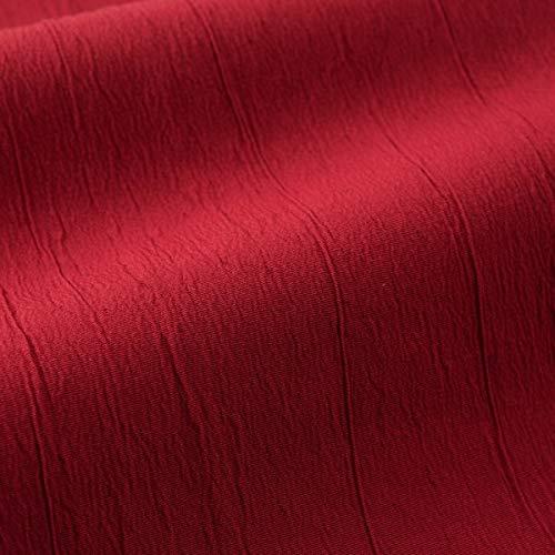 englisch dekor Dekostoff Vorhangstoff schwer entflammbar DIMOUT Uni rot hochwertiger Stoff mit Crash-Effekt als Meterware, schalldämmend, Blickdicht