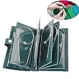 CYH Set de Agujas de Tejer Circulares, 11 piezas Agujas de Tejer Profesionales 80cm Agujas Circulares de Acero Inoxidable, Agujas en Diferentes Tamaños 1.5 mm Hasta 5.0 mm