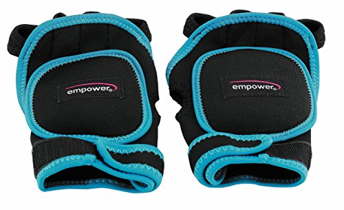 Empower Weighted Gloves for Women, Kickboxing, MMA, 2 Lb Set (1 Pound Each Glove), Blue