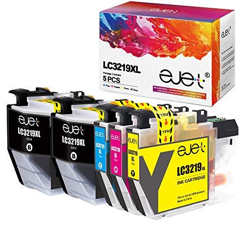 ejet Kompatibel Tintenpatrone als Ersatz für Brother LC3219 XL LC3217 MFC-J5330DW MFC-J5730DW MFC-J6530DW MFC-J6930DW MFC-6935DW MFC-J5335DW (2 Schwarz,1 Cyan,1 Magenta,1 Gelb, 5er-Pack)