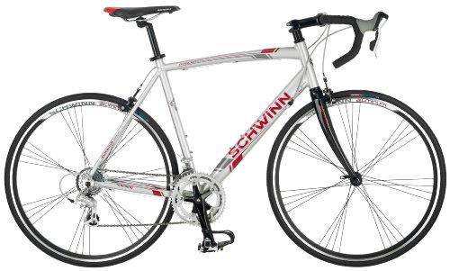 Schwinn Phocus 1600 Drop Bar Mens Road Bicycle, 56cm/Large Aluminum Step-Over Frame, Carbon Fiber Fork,...