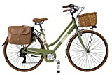 Canellini Dolce Vita by Bicicletta Via Veneto Bici Citybike CTB Donna Vintage Retro Alluminio Donna (46, Verde Oliva)